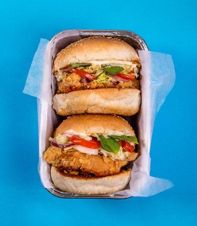 burgery niebieskie