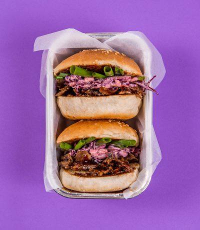 burgery fioletowe